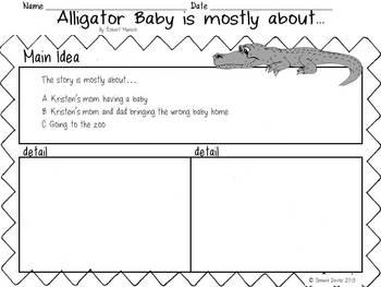 Alligator Baby by Robert Munsch Main Idea