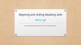 Align Reading & Writing - Based on Empowering Writers Training