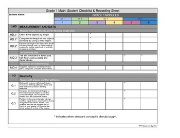 Aligned with ENY / Eureka Math Grade 1 - Student Checklist & Recording Sheet.pdf