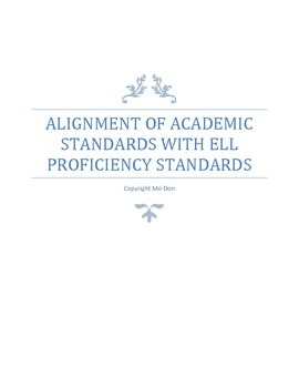 Alignment of Academic Standards with ELL Proficiency Standards-Graduate Document