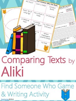 Aliki Author Study {NO PREP Writing Activities & Game}