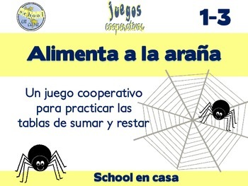 Alimentar a la araña: Cooperative Game with Addition & Subtraction Facts