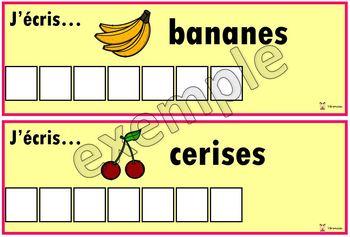 Alimentation: j'écris...les fruits