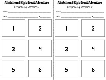 Alistair and Kip's Great Adventure {Sequencing Assessment} {WG or One on One}