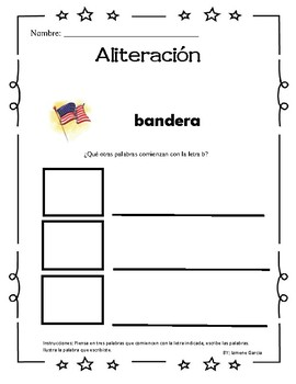 Alliteration in spanish/ Aliteracion en espanol