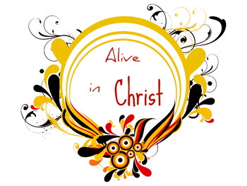 Alive in Christ 2 Printable Clip art
