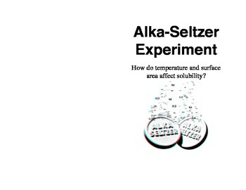 Alka-Seltzer and Solubility Rates Lab for Interactive Science Notebooks