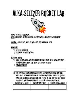 Alka-seltzer Rocket Lab