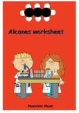 Alkanes worksheet