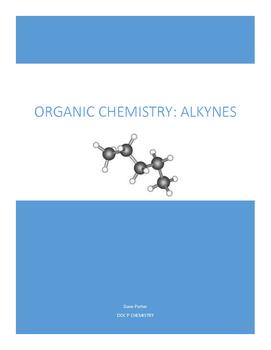 Alkynes Worksheet
