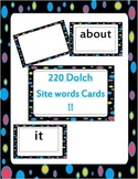 All 220 Dolch site words flash cards bundled set plus blank cards