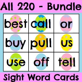 All 220 Sight Word Cards Easter