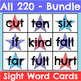 All 220 Sight Word Cards Holiday Bundle