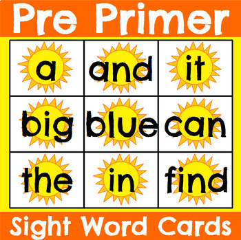 All 220 Sight Word Cards Summer Bundle