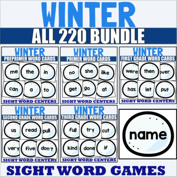 All 220 Sight Word Cards Winter