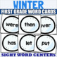 All 220 Sight Word Cards Winter Bundle