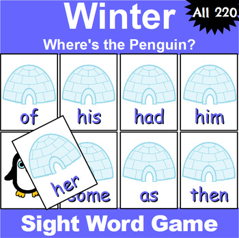 All 220 Sight Word Recognition Games Bundle for All Seasons