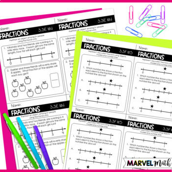 All 3rd Grade Math TEKS Exit Slips * Exit Tickets Bundle