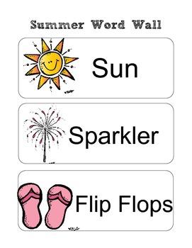 All 4 Seasons Word Wall Set