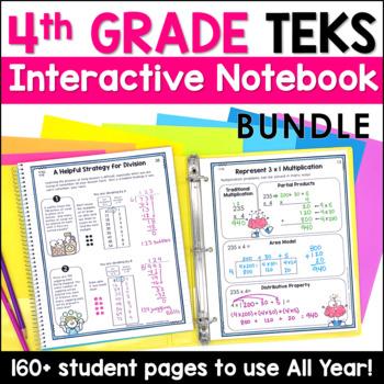 All 4th Grade TEKS Notebook Bundle by Marvel Math