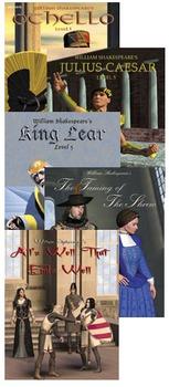 All 5 Reading Level 5-6 Easy Reading Shakespeare titles