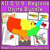 All 5 U.S. Regions Unit Plans:  Bundle of 5 Separate Units
