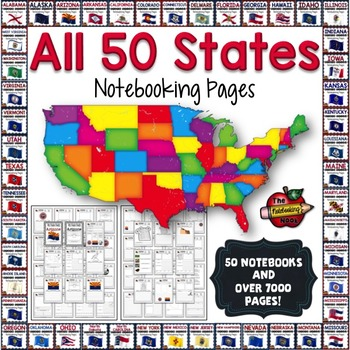 All 50 States Notebooking Pages