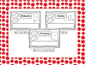 All 50 States Read it, Build it, Color it Learn the States preschool worksheets.