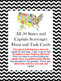 All 50 States and Capitals Task Cards and Scavenger Hunt