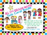 All 5th Grade Math Task Card Bundle (19 Sets Covering All Virginia SOLs)