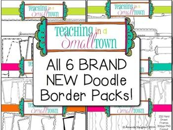 Doodle Frame Bundle- 400 Frames for Commercial Use