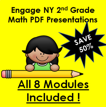 Engage New York MATH for Second Grade PDFs!  All 8 Second Grade Modules!