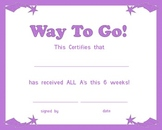 All A Certificate