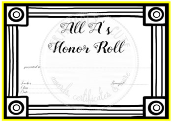All A's Honor Roll