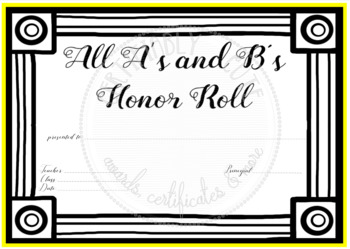 All A's and B's Honor Roll 2