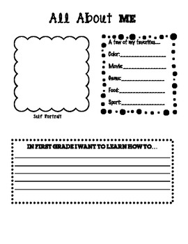 Beginning of the Year Unit- First week of school activity