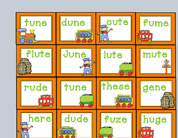 All Aboard!  A CVCe Word Game!