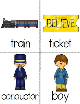 Winter Express Early Emergent Reader Pack ~All Aboard!~ Word & Pic Cards Too!