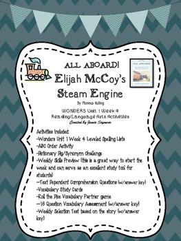 All Aboard!  Elijah McCoy's Steam Engine Wonders Unit 1 Week 4 Weekly Bundle