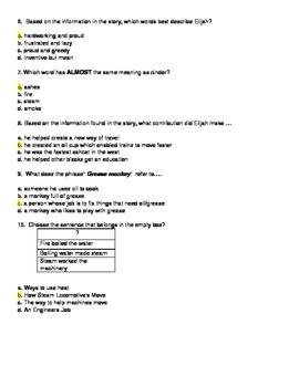 All Aboard : Elijah McCoy's Steam Engine- McGraw-Hill Wonders -Assessment
