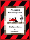Train Theme File Folder Games Special Education Math & Literacy Centers