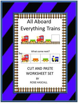 Trains, Cut and Paste Activities, Summer Special Education, Summer Review