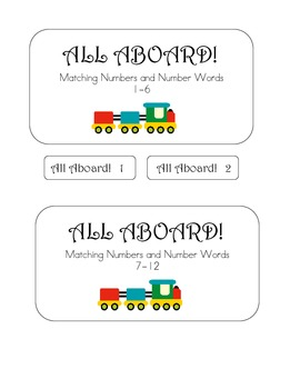 All Aboard File Folder Game - Matching Numerals to Number Words 1-12