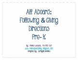All Aboard: Following & Giving Directions Pre-K