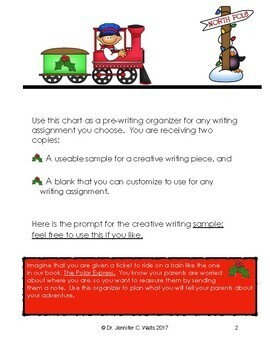 All Aboard! Holiday-themed Writing Organizer