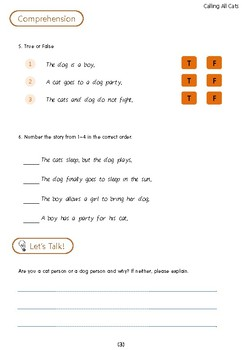 All Aboard Reading - Calling All Cats Worksheet
