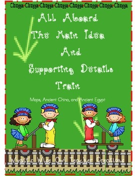 All Aboard The Main Idea and Supporting Details Train