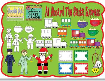 All Aboard The Santa Express - Graphics for Commercial Use