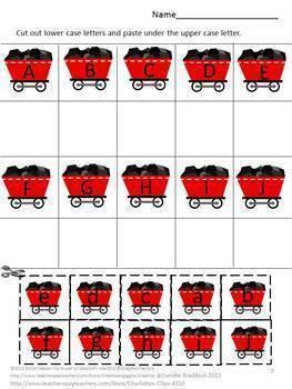 Train Math and Literacy Printables Preschool, Kindergarten, Special Ed Bundle