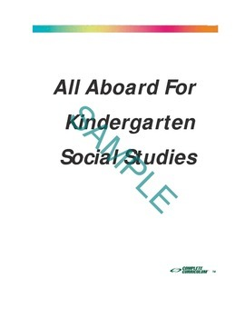 All Aboard for Kindergarten Social Studies Digital Student and Teacher's Edition